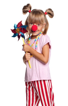 Little girl with clown nose Stock Photo - 15332512