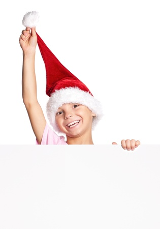 Little boy in Santa hat Stock Photo - 15332496