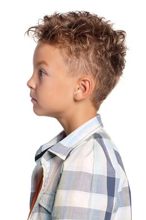 nose close up: Portrait of boy Stock Photo