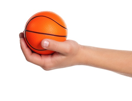 child ball: Boy hand with small ball