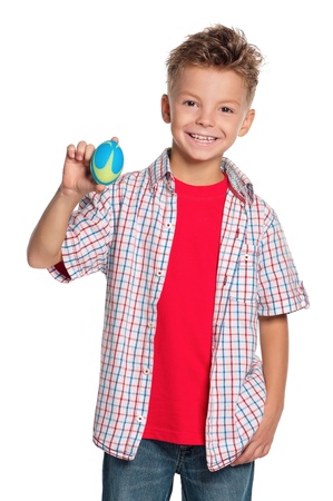 Boy with rugby ball photo