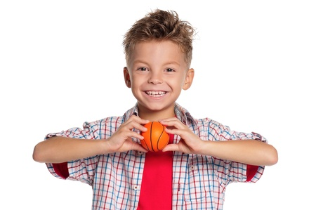Boy with basketball ball Stock Photo - 15361536