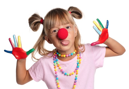 Little girl with clown nose Stock Photo - 15403446