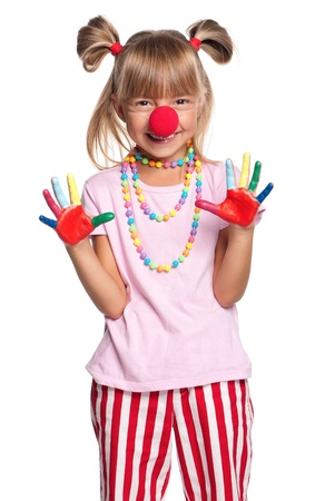 Little girl with clown nose Stock Photo - 15403443