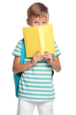 Little boy with books photo