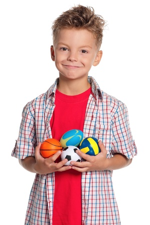 Boy with small balls photo