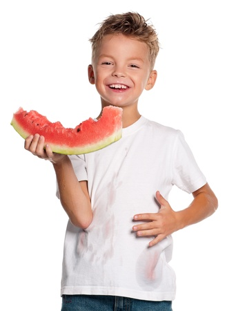 Boy with watermelon Stock Photo - 15469977