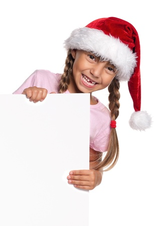 Little girl in Santa hat Stock Photo - 15469939