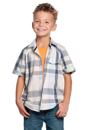 teenagers standing: Portrait of boy Stock Photo
