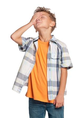 wanhopig: Portret van jongen
