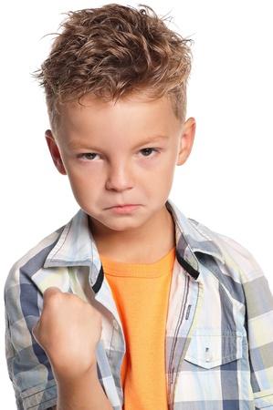 boxing boy: Portrait of boy Stock Photo