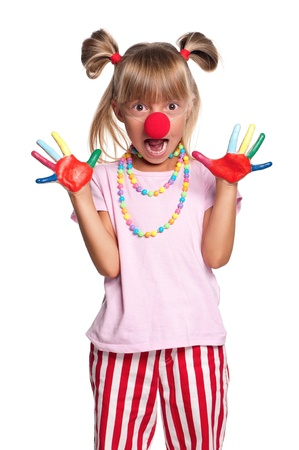 Little girl with clown nose Stock Photo - 15552994