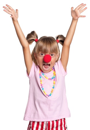 Little girl with clown nose Stock Photo - 15691362