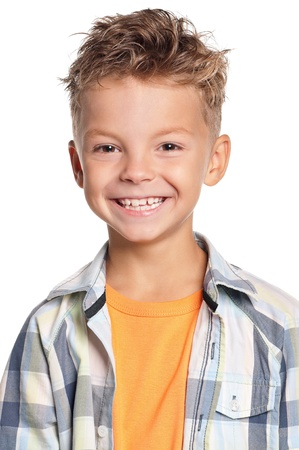 one little boy: Portrait of boy Stock Photo
