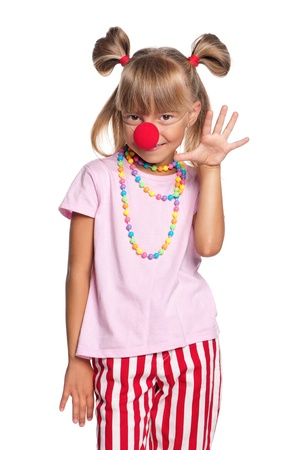 Little girl with clown nose Stock Photo - 15810835
