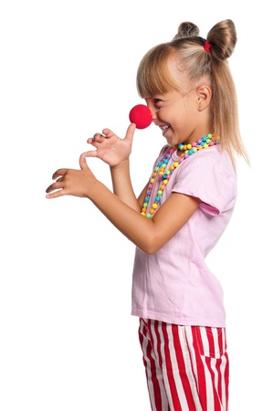 Little girl with clown nose Stock Photo - 15810833