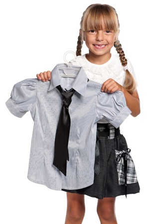 Little girl in school uniform Stock Photo - 15891470