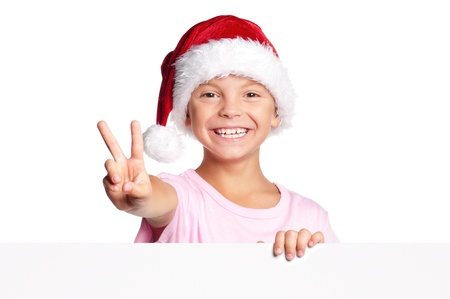 Little boy in Santa hat Stock Photo - 15891455