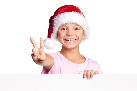 Little boy in Santa hat Stock Photo - 15891455