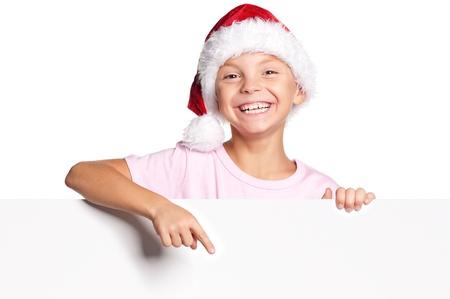 Little boy in Santa hat Stock Photo - 15891438