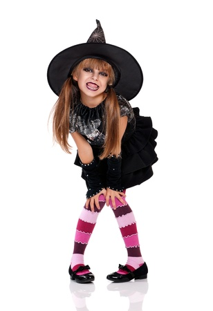 Bambina in costume di Halloween photo
