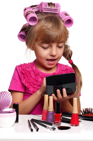 Makeup little girl photo