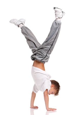 Boy gymnastic Stock Photo
