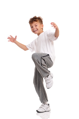 dancing pose: Boy dancing