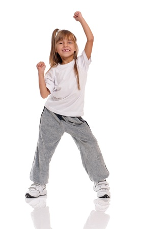 hand on hip: Little girl dancing