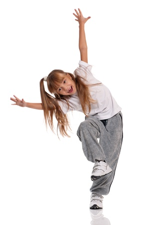 Little girl dancing photo