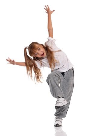 pies bailando: Ni�a bailando Foto de archivo