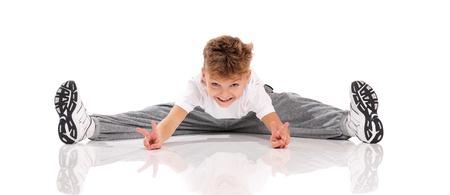 lithe: Boy gymnastic Stock Photo