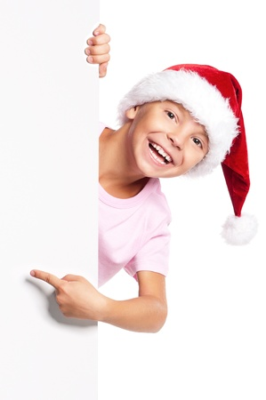 Boy in Santa hat Stock Photo - 16594194