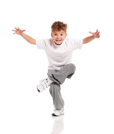 foot model: Boy dancing