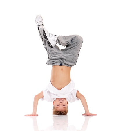 Boy ginnastica Archivio Fotografico