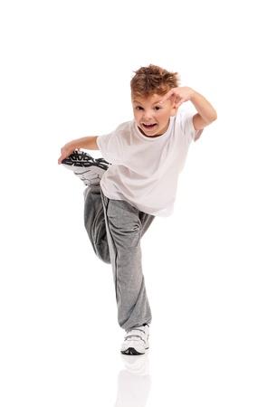 break dance: Boy dancing
