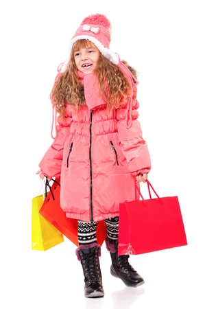 Little girl in winter clothing Stock Photo - 16883696