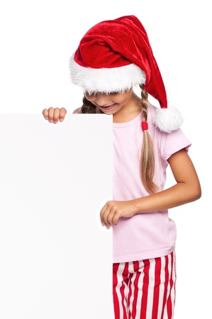 Little girl in Santa hat Stock Photo - 16883695