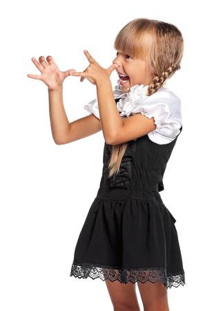 pinocchio: Little girl in school uniform