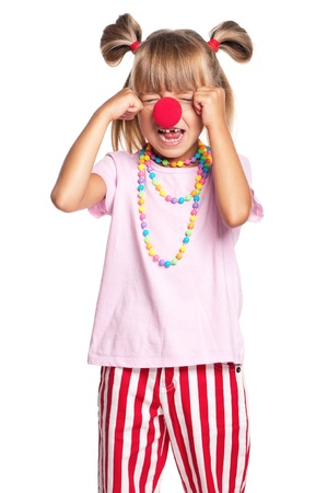 Little girl with clown nose Stock Photo - 17382726