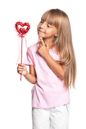 Little girl with heart photo