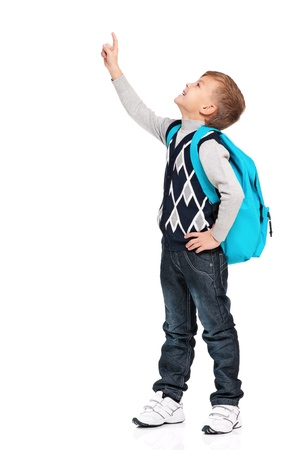 teens school: Boy with backpack Stock Photo