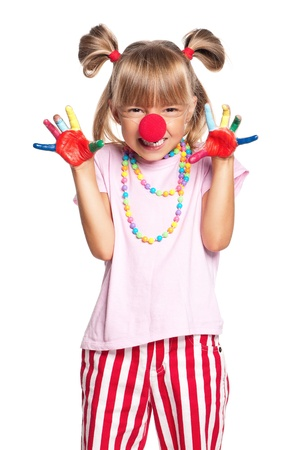 Little girl with clown nose Stock Photo - 17567523