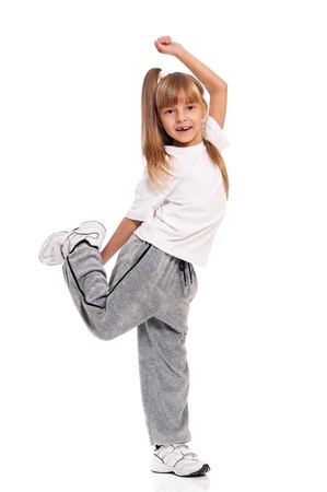 hip hop girl: Little girl dancing