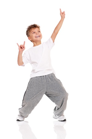 Boy dancing Stock Photo - 17600502