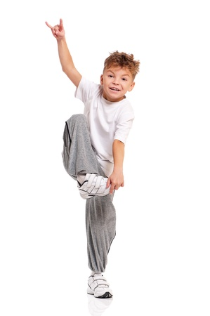 Boy dancing Stock Photo - 17600499
