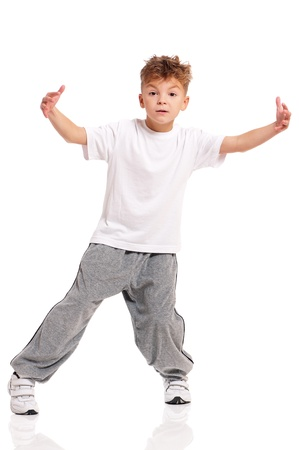 Boy dancing Stock Photo - 17600504