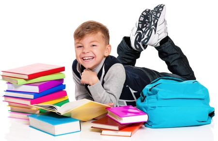 Boy with books Stock Photo - 17600378