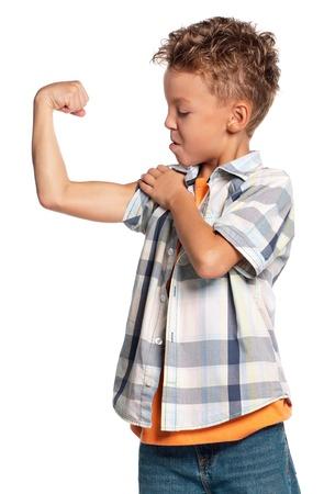 boy muscles: Happy boy