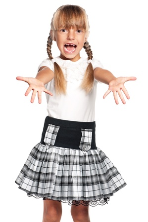 Little girl in school uniform Stock Photo - 17600381
